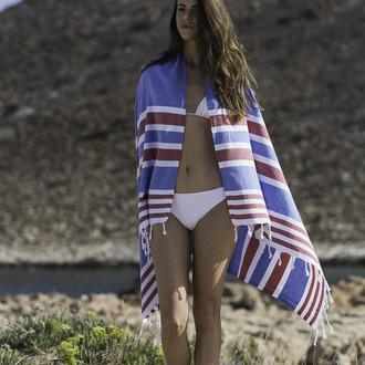 Полотенце пештемаль для пляжа, сауны, бани Begonville CLASSIC SAMSARA хлопок (unison)