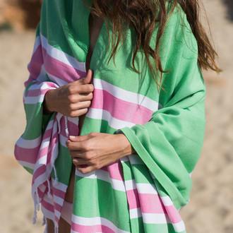 Полотенце пештемаль для пляжа, сауны, бани Begonville CLASSIC SAMSARA хлопок hippy