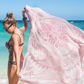 Полотенце пештемаль для пляжа, сауны, бани Begonville BAMBOO ARCANE бамбук/хлопок candy