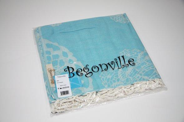 Полотенце пештемаль для пляжа, сауны, бани Begonville BAMBOO LACE бамбук/хлопок turquoise 95*170, фото, фотография