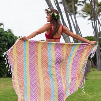 Полотенце пештемаль для пляжа, сауны, бани Begonville BAMBOO MOMENTUM бамбук/хлопок flow