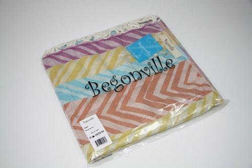 Полотенце пештемаль для пляжа, сауны, бани Begonville BAMBOO MOMENTUM бамбук/хлопок flow 100х180, фото, фотография