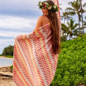 Полотенце пештемаль для пляжа, сауны, бани Begonville BAMBOO HARMONIC бамбук/хлопок reds