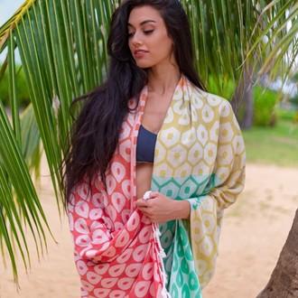 Полотенце пештемаль для пляжа, сауны, бани Begonville BAMBOO DEL REY бамбук/хлопок (marigold)