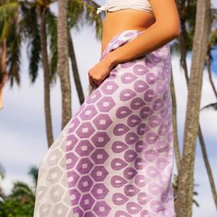 Полотенце пештемаль для пляжа, сауны, бани Begonville BAMBOO DEL REY бамбук/хлопок purple 100х180