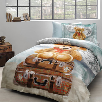 Комплект детского постельного белья в кроватку Tivolyo Home MASHA хлопковый сатин делюкс