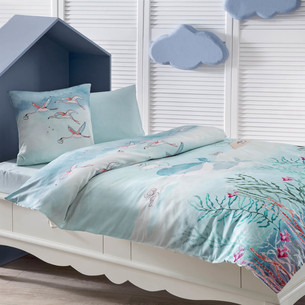 Детское постельное белье в кроватку Tivolyo Home MERI хлопковый сатин делюкс