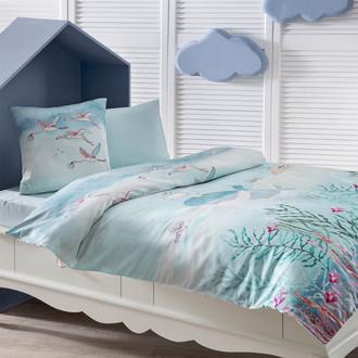 Комплект детского постельного белья в кроватку Tivolyo Home MERI хлопковый сатин делюкс