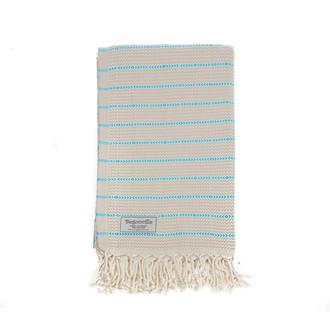 Полотенце пештемаль для пляжа, сауны, бани Begonville THYME хлопок (turquoise)
