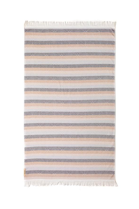 Полотенце пештемаль для пляжа, сауны, бани Begonville TERRY SKYE хлопок (beige) 100*180, фото, фотография