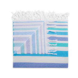 Полотенце пештемаль для пляжа, сауны, бани Begonville TERRY ELYSE хлопок (blue navy blue)