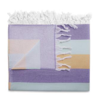 Полотенце пештемаль для пляжа, сауны, бани Begonville TERRY KEY WEST хлопок (lily mint)