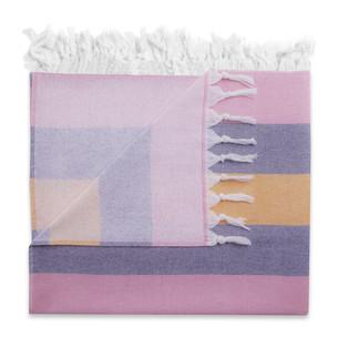 Полотенце пештемаль для пляжа, сауны, бани Begonville TERRY KEY WEST хлопок pink 100х180