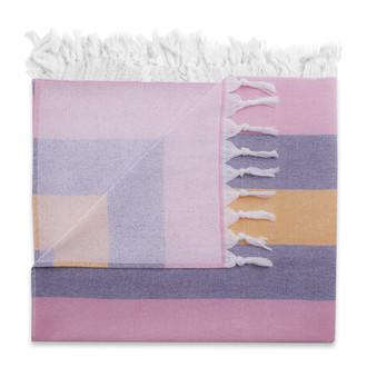 Полотенце пештемаль для пляжа, сауны, бани Begonville TERRY KEY WEST хлопок (pink navy)