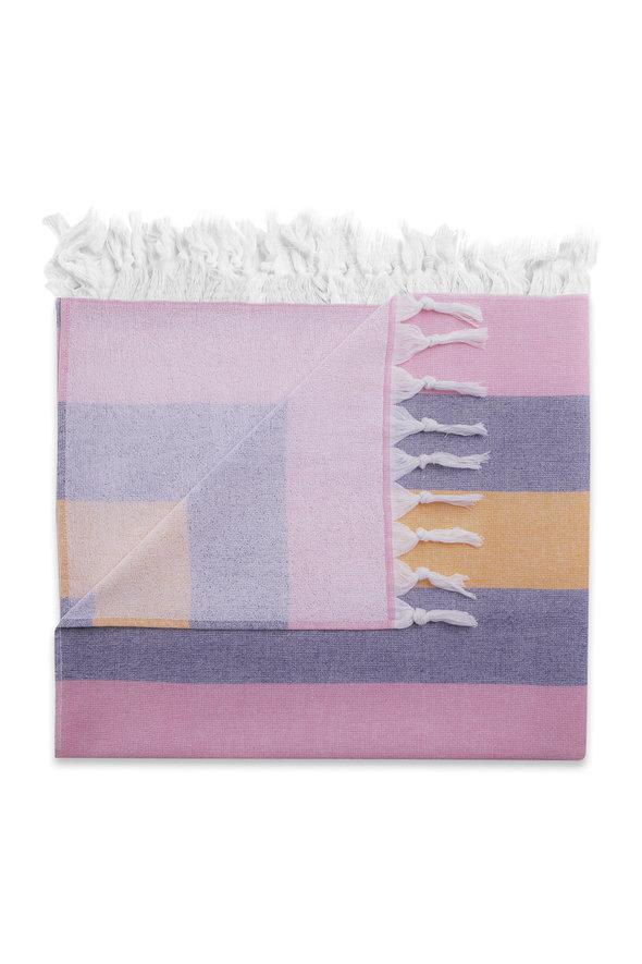 Полотенце пештемаль для пляжа, сауны, бани Begonville TERRY KEY WEST хлопок (pink navy) 100*180, фото, фотография