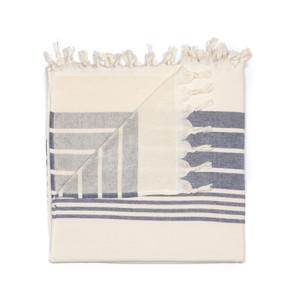 Полотенце пештемаль для пляжа, сауны, бани Begonville TERRY HELIOS хлопок navy blue 100х180