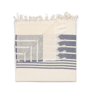 Полотенце пештемаль для пляжа, сауны, бани Begonville TERRY HELIOS хлопок navy blue