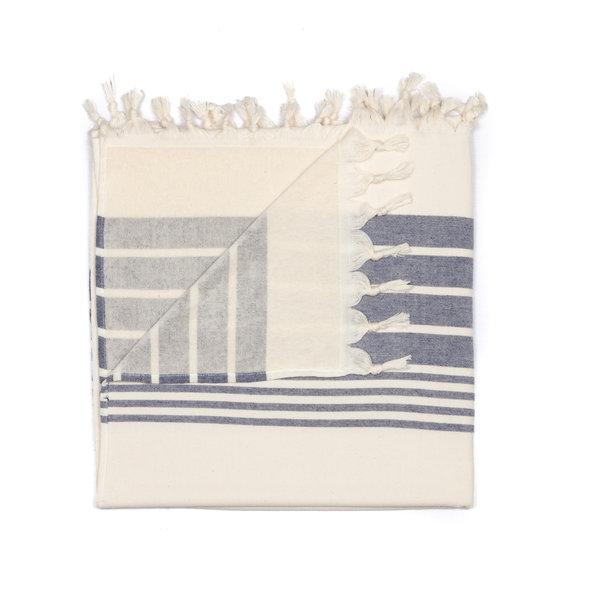 Полотенце пештемаль для пляжа, сауны, бани Begonville TERRY HELIOS хлопок (navy blue) 100*180, фото, фотография