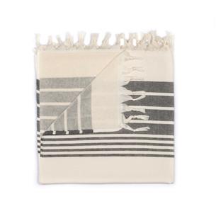 Полотенце пештемаль для пляжа, сауны, бани Begonville TERRY HELIOS хлопок black 100х180