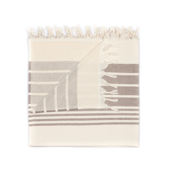 Полотенце пештемаль для пляжа, сауны, бани Begonville TERRY HELIOS хлопок (beige) 100*180, фото, фотография
