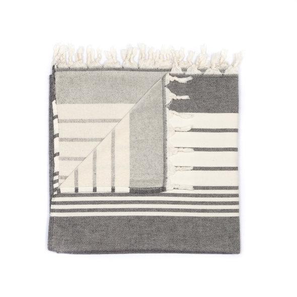 Полотенце пештемаль для пляжа, сауны, бани Begonville TERRY ARIA хлопок (black) 100*180, фото, фотография
