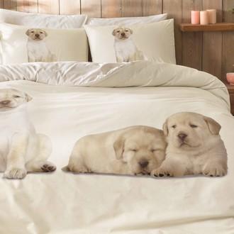 Комплект подросткового постельного белья TAC DOGS хлопковый ранфорс (бежевый)