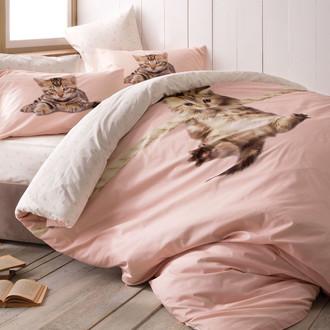 Комплект подросткового постельного белья TAC CAT хлопковый ранфорс (пудра)