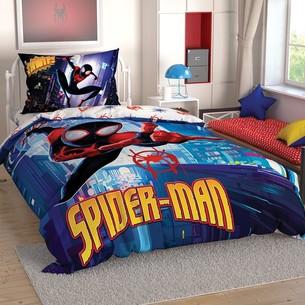 Детское постельное белье TAC SPIDERMAN INTO THE SPIDER VERSE хлопковый ранфорс 1,5 спальный