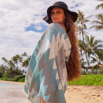 Полотенце пештемаль для пляжа, сауны, бани Begonville DREAMSCAPE COLONY хлопок (blue)