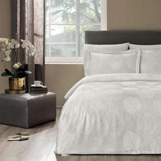 Постельное белье Tivolyo Home LIDIA бамбуковый сатин-жаккард кремовый