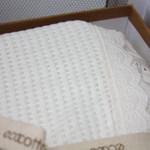 Постельное белье с покрывалом пике для укрывания Ecocotton ALESSA органический хлопок кремовый евро, фото, фотография