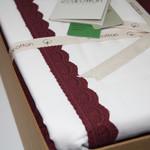 Постельное белье с покрывалом пике для укрывания Ecocotton ALESSA органический хлопок сливовый евро, фото, фотография