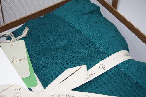 Постельное белье с покрывалом пике для укрывания Ecocotton ALESSA органический хлопок нефть евро, фото, фотография