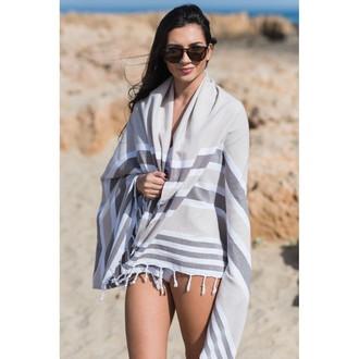 Полотенце пештемаль для пляжа, сауны, бани Begonville CLASSIC SAMSARA хлопок (natural)