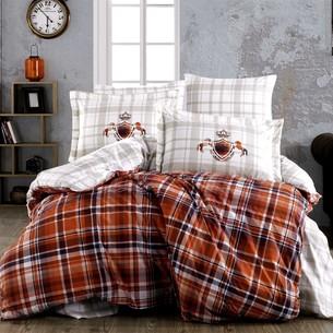 Постельное белье Hobby Home Collection ADALIA хлопковый поплин оранжевый евро
