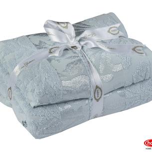 Подарочный набор полотенец для ванной 50х90, 70х140 Hobby Home Collection VERSAL хлопковая махра голубой