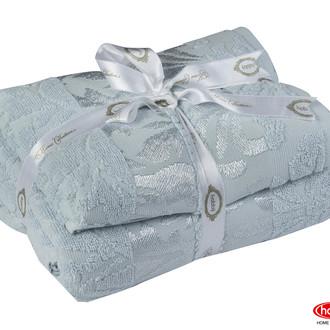 Подарочный набор полотенец для ванной 50*90, 70*140 Hobby Home Collection VERSAL хлопковая махра (голубой)