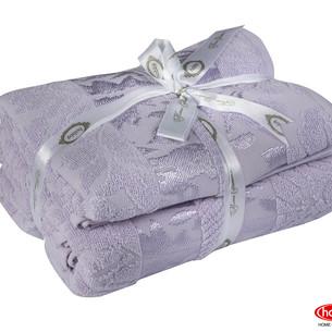 Подарочный набор полотенец для ванной 50х90, 70х140 Hobby Home Collection VERSAL хлопковая махра лиловый