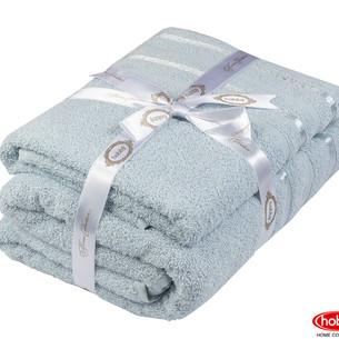 Набор полотенец для ванной 50х90, 70х140 Hobby Home Collection NISA хлопковая махра голубой