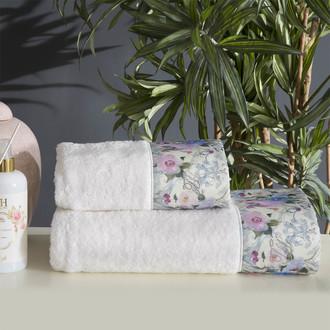 Подарочный набор полотенец для ванной 2 пр. Tivolyo Home CAVA хлопковая махра кремовый