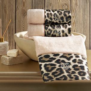 Набор полотенец-салфеток в подарочной упаковке 30х50 3 шт. Tivolyo Home LEOPARD хлопковая махра бежевый