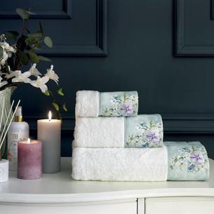 Набор полотенец-салфеток в подарочной упаковке 30х50 3 шт. Tivolyo Home ORNELIA хлопковая махра кремовый