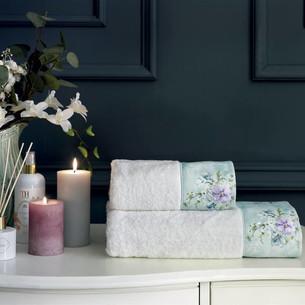 Подарочный набор полотенец для ванной 2 пр. Tivolyo Home ORNELIA хлопковая махра кремовый