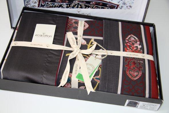 Постельное белье Ecocotton AYSIMA органический хлопковый сатин делюкс антрацит евро-макси, фото, фотография