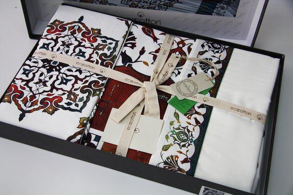 Постельное белье Ecocotton AHSEN органический хлопковый сатин делюкс кремовый евро, фото, фотография