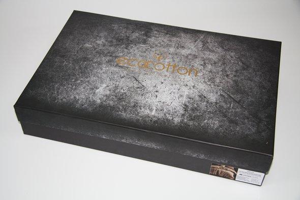 Постельное белье Ecocotton AHSEN органический хлопковый сатин делюкс кремовый евро-макси, фото, фотография
