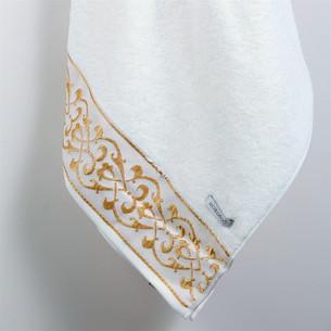 Полотенце для ванной в подарочной упаковке Ecocotton SEHZADE органический хлопок кремовый 50х90