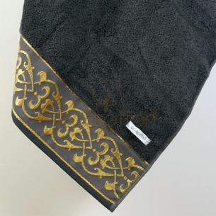 Полотенце для ванной в подарочной упаковке Ecocotton SEHZADE органический хлопок антрацит 80х150