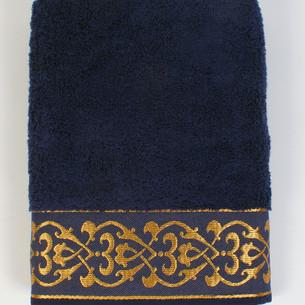 Полотенце для ванной в подарочной упаковке Ecocotton SEHZADE органический хлопок синий 50х90