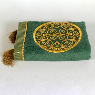 Полотенце для ванной в подарочной упаковке Ecocotton ARUS органический хлопок зелёный 50х90
